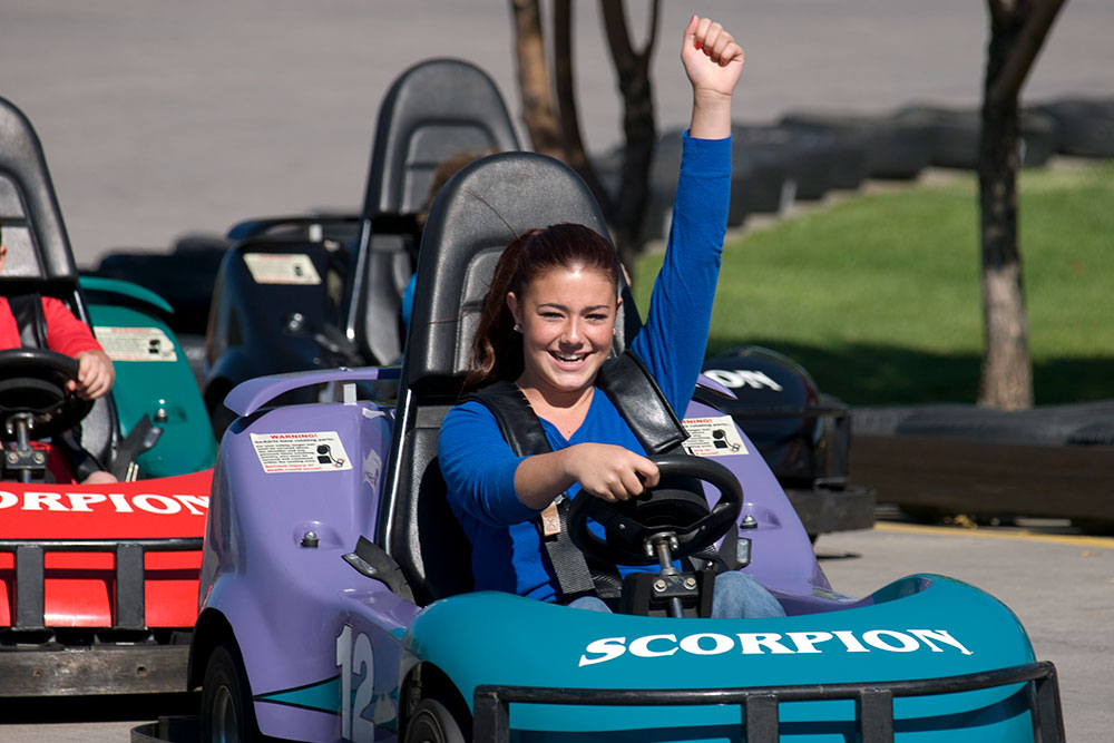 Boondocks - Girl Riding Go Karts