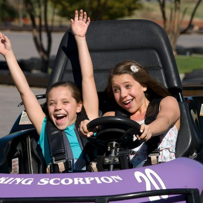 Boondocks - Go-Karts - Two Young Girls Riding