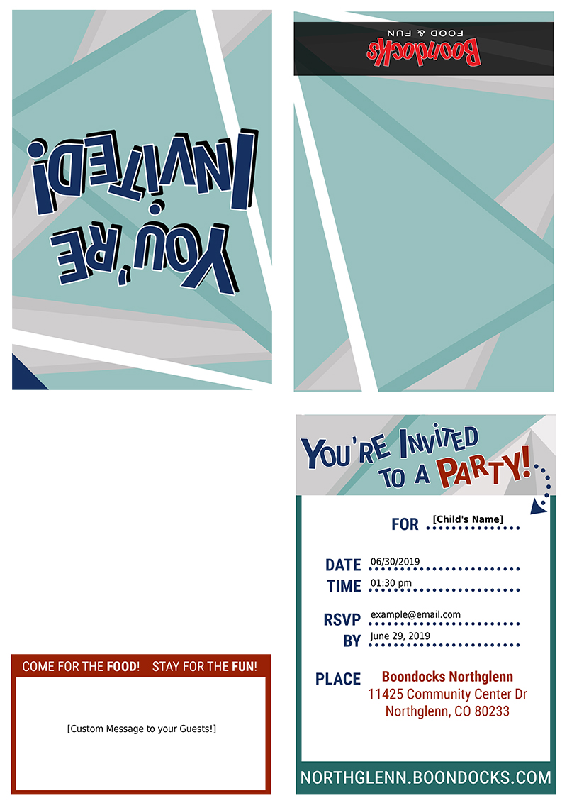 print invitation sample